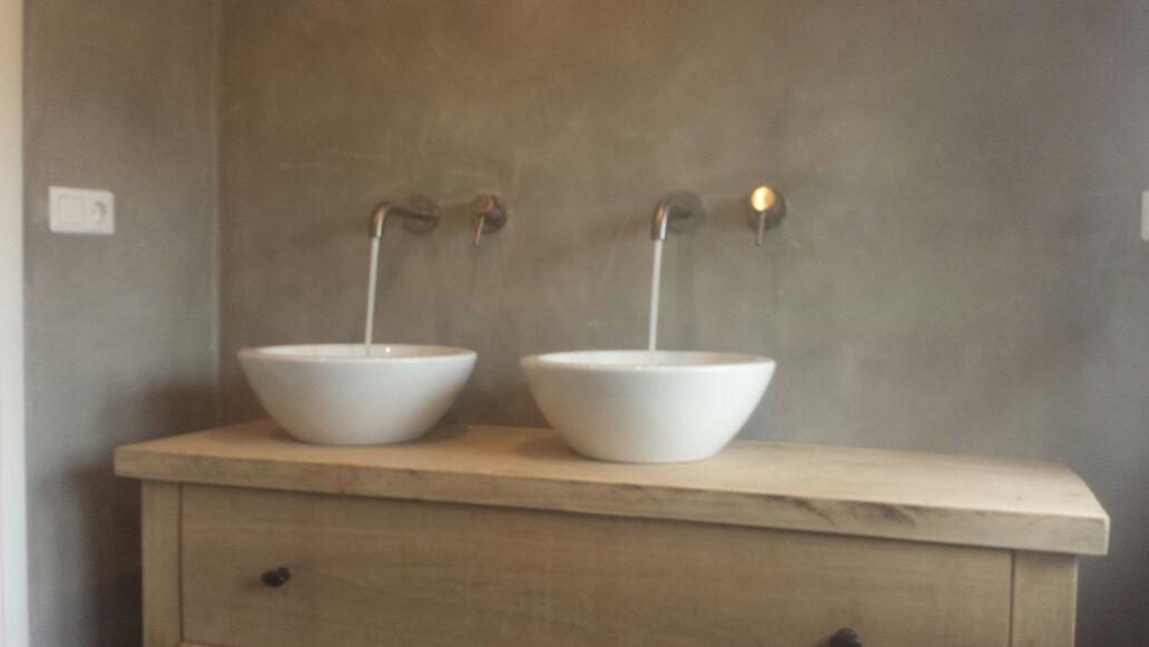 Badkamer Meubel Landelijk : Landelijke badkamer meubel eiken wj oude bouwmaterialen