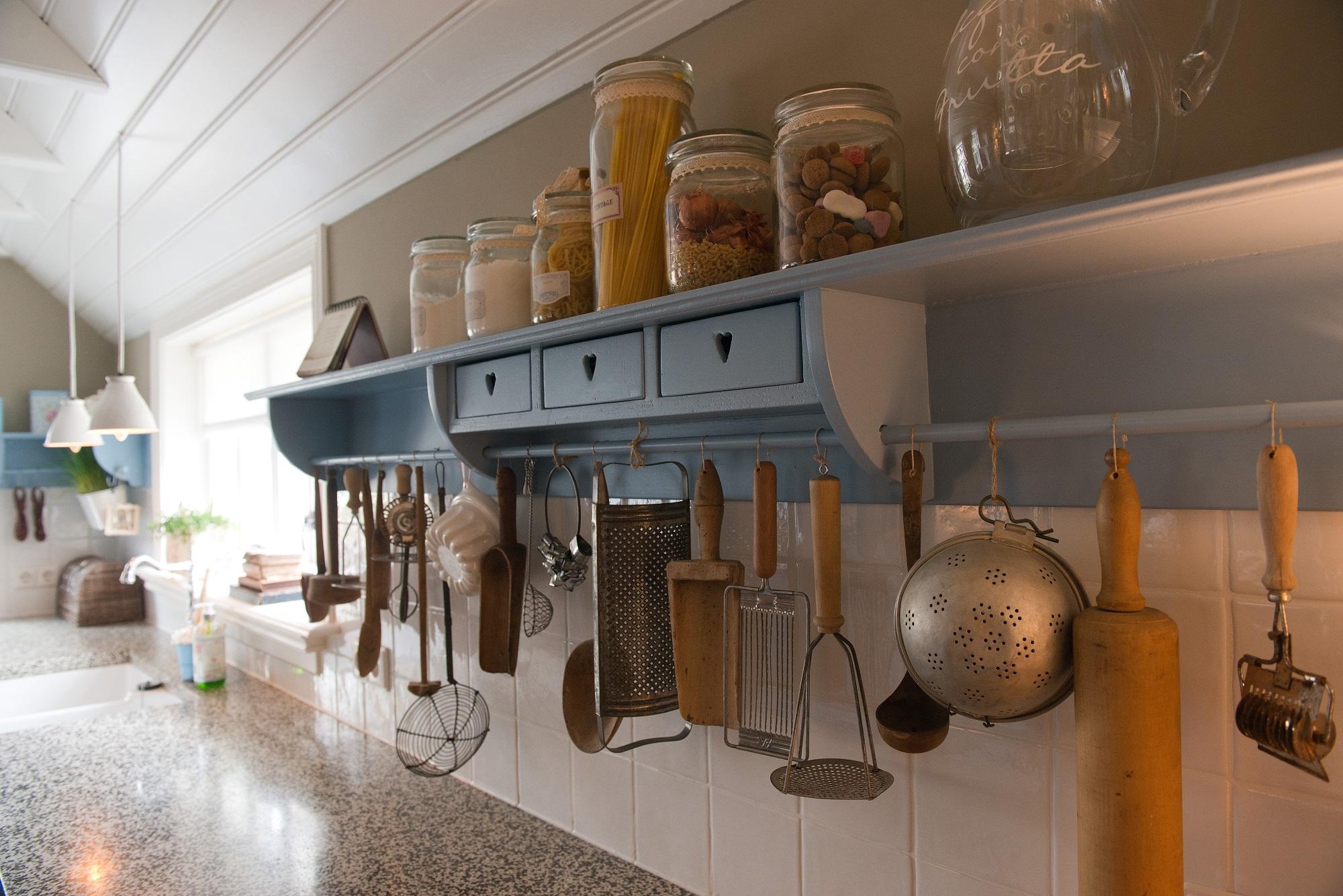 Blauwe Landelijke Keuken : landelijke keuken blauw