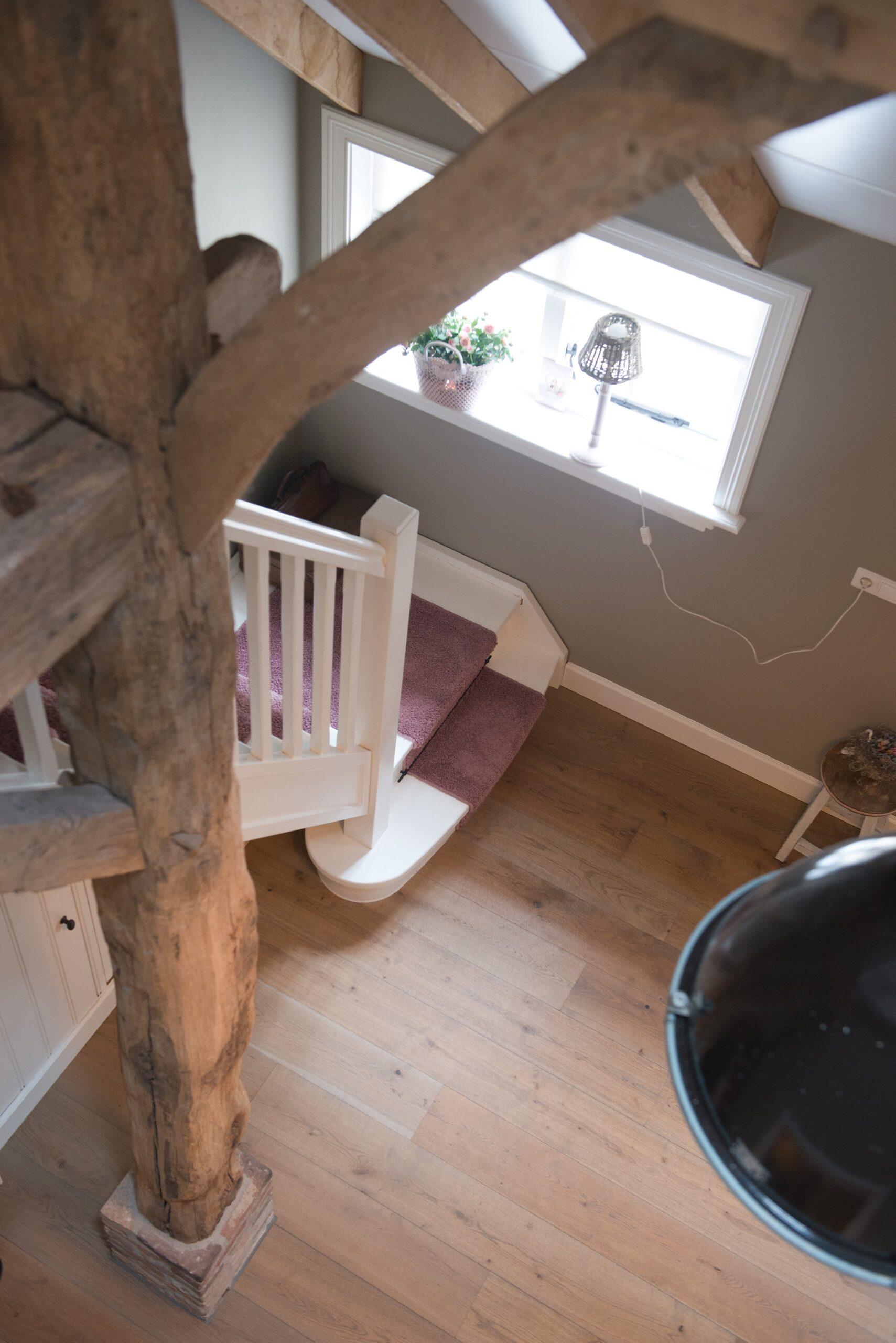Oude Eiken Gebinten In Nieuwe Woning Wj Oude Bouwmaterialen